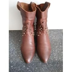 Santiags, bottines, low boots cowboy Zara  pas cher