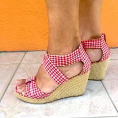 Sandales compensées 3 Suisses  pas cher