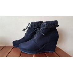 Bottines & low boots à compensés   pas cher