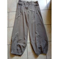 Pantalon large pantalon style beattle taille 38  pas cher