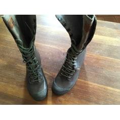High Heel Ankle Boots Palladium