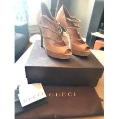 Escarpins à bouts ouverts Gucci  pas cher