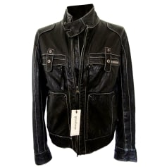 Leather Zipped Jacket Dirk Bikkembergs