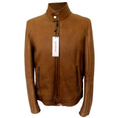 Leather Zipped Jacket Hugo Boss