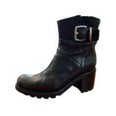 Bottines & low boots motards Free Lance  pas cher