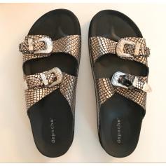Sandales plates  Depeche  pas cher