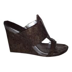 Sandales compensées DKNY  pas cher