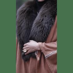 Manteau en fourrure fatima karim  pas cher
