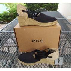 Sandales compensées Mango  pas cher