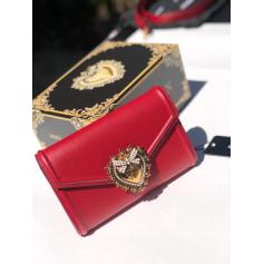 Sac en bandoulière en cuir Dolce & Gabbana  pas cher
