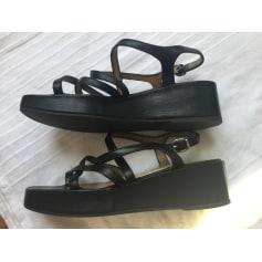 Sandales compensées Charles Jourdan  pas cher