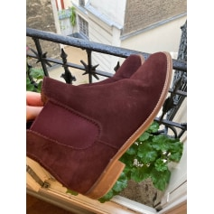 Bottines & low boots plates Massimo Dutti  pas cher