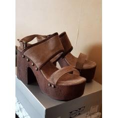 Sandales compensées Divine Follie  pas cher