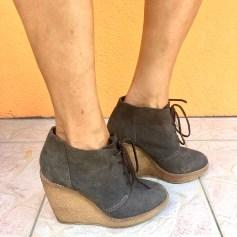Bottines & low boots à compensés Mango  pas cher