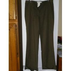 Pantalon large Pantalon ample kaki taille haute taille 42  pas cher