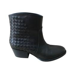 Bottines & low boots motards Bottega Veneta  pas cher