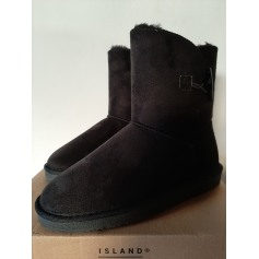Bottines & low boots plates Island boot  pas cher
