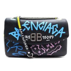 Lederhandtasche Balenciaga BB Chain