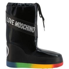 Bottes plates Love Moschino  pas cher