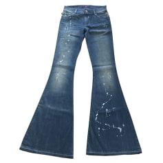 Jeans très evasé, patte d'éléphant Victoria Beckham  pas cher