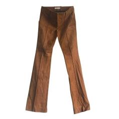 Pantalon très evasé, patte d'éléphant Yves Salomon  pas cher