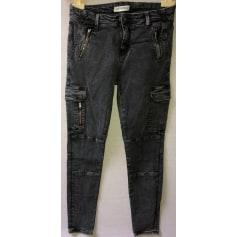Jeans droit ZARA WOMAN  pas cher