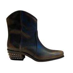 Santiags, bottines, low boots cowboy Miu Miu  pas cher