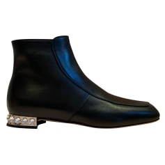 Bottines & low boots plates Miu Miu  pas cher