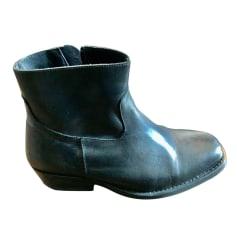 Bottines & low boots motards Claudie Pierlot  pas cher