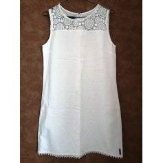 Robe courte Blanc du Nil  pas cher