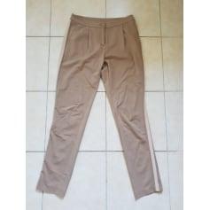 Pantalon droit Twin-Set Simona Barbieri  pas cher