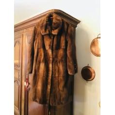 Manteau en fourrure Saga  Minck  pas cher