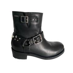 Bottines & low boots motards Karl Lagerfeld  pas cher