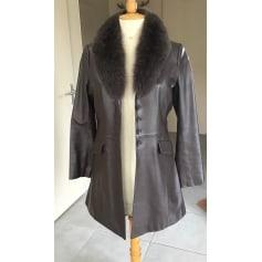 Manteau en cuir 1.2.3  pas cher
