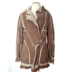 Manteau en cuir Just Cavalli  pas cher