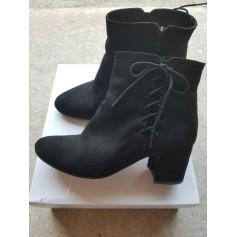 Bottines & low boots à talons La Redoute  pas cher