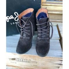 Bottines & low boots à talons Pepe Jeans  pas cher