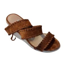 Sandales compensées Bobbies  pas cher