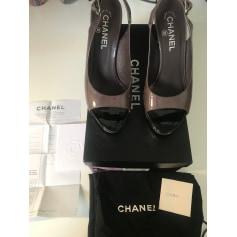Escarpins à bouts ouverts Chanel  pas cher