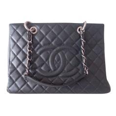 Sac à main en cuir Chanel Shopping pas cher