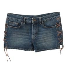 Short en jean Saint Laurent  pas cher