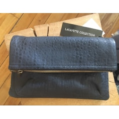Leather Clutch Galeries Lafayette