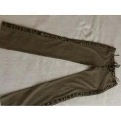 Pantalon droit Yves Saint Laurent Tribute pas cher