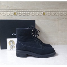 Bottines & low boots motards Chanel  pas cher
