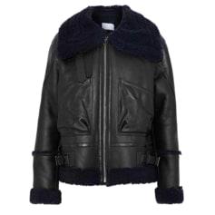 Manteau en cuir Sandro  pas cher