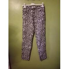 Pantalon droit cotonnade  pas cher