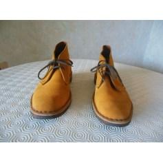 Bottines & low boots plates Clarks  pas cher