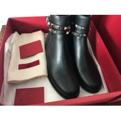 Bottines & low boots plates Valentino Rockstud pas cher