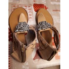 Sandales plates    pas cher