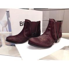 Bottines & low boots plates Bel Air  pas cher